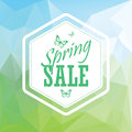 Green spring sale low polygonal landscape