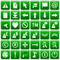 Green Square Web Buttons [2] Royalty Free Stock Photography