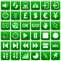 Green Square Web Buttons [3] Stock Image