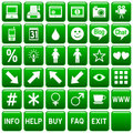Green Square Web Buttons [4] Royalty Free Stock Photos