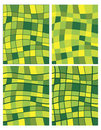 Green squares patterns Royalty Free Stock Image