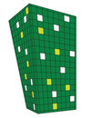 Green Squares perspective design Royalty Free Stock Photography