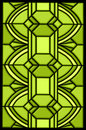 Green stained glass window design Stock Photo