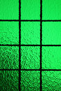 Green stained glass window Royalty Free Stock Photo