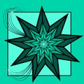 Green Star Royalty Free Stock Photo