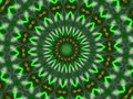 Green Star Kaleidoscope Mandala