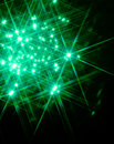 Green Star Light Stock Images