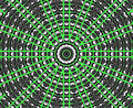 Green Star Mandala Stock Images