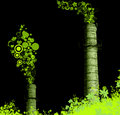 Green stared chimney-stalks Stock Images