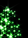 Green stars Royalty Free Stock Photography