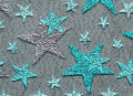 Green Stars Lace Material Text...