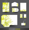 Green Stationery design set Stock Image