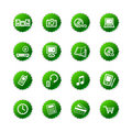 Green sticker e-shop icons Royalty Free Stock Photo