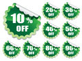 Green stickers Royalty Free Stock Image