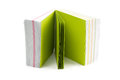 Green sticky note Stock Photography