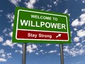 Welcome to willpower street sign Royalty Free Stock Photo
