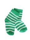 Green striped baby socks