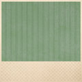Green striped background on beige checkered pattern background layout faded dull or cream color border and lines insert of Stock Photography