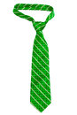 Green striped necktie Royalty Free Stock Photos