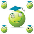 Green student mascot Royalty Free Stock Photos