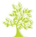 Green stylized tree Royalty Free Stock Photo