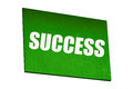 Green success sign isolated with nobody Stock Image
