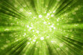 Green Sunburst Background With...
