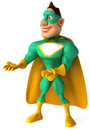 Green Superhero Royalty Free Stock Photo
