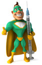 Green Superhero Royalty Free Stock Photos