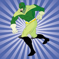 Green superhero Royalty Free Stock Image