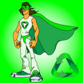 Green supermen Royalty Free Stock Image