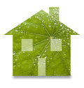Green Sustainable Home Leaf Renewable Energy Royalty Free Stock Photo