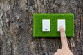Green switch concept Royalty Free Stock Photo