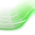 Green swoosh wave background - certificate Stock Image