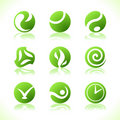 Green symbols eco Stock Photos