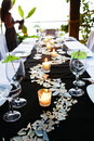 Green Table setting Royalty Free Stock Photography