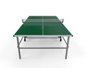 Green table tennis isolated on white background d render Stock Photos