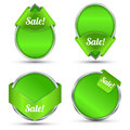 Green tag sale promotion can use for background about business concept Royalty Free Stock Photography