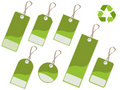Green tags Royalty Free Stock Photography
