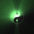Green Tai Chi Yin Yang Symbol ...