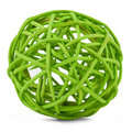 Green tangle of willow branches Royalty Free Stock Images