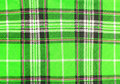 Green tartan fabric texture Royalty Free Stock Photos
