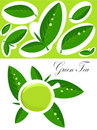 Green tea background Stock Photos
