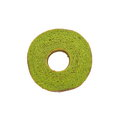 Green tea baum cake maccha on white Stock Image