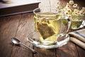 Green Tea Cup Bag Tag
