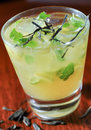 Green tea mojito close up Royalty Free Stock Images