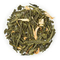 Green tea sencha earl grey blend raw isolated on pure white Stock Image