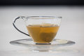 Green tea with tea bag in cup Royalty Free Stock Photo