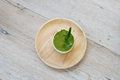 Green tea tiramisu with green tea powder Royalty Free Stock Photo