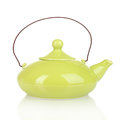 Green teapot Stock Photography